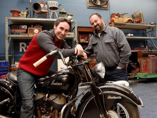 American Picker Mike Wolfe, left, is helping to promote