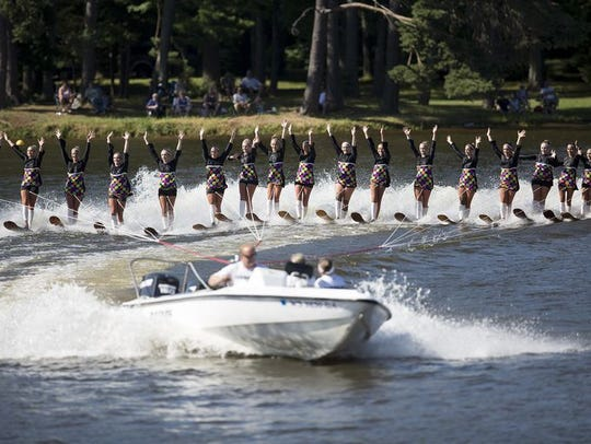 The Wisconsin Rapids Aqua Skiers' performance during