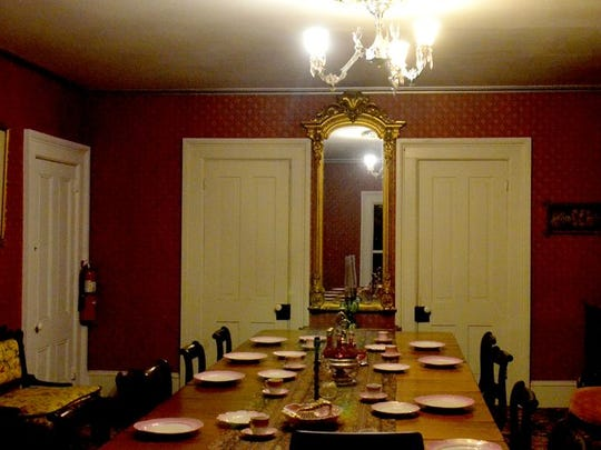 Dining room of the Mackay Mansion in Virginia City.