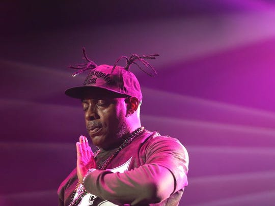Rapper Coolio was among the six acts who brought back the music and nostalgia of a decade during the I Love the '90s Tour at the Resch Center on Thursday.