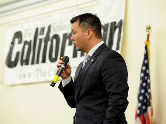 Scott Davis at the Oct. 3 elections forum sponsored by the Californian Media Group