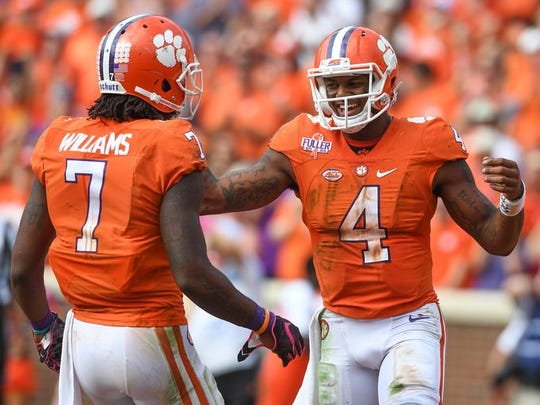 Behind the play of No. 4 Deshaun Watson, Clemson is