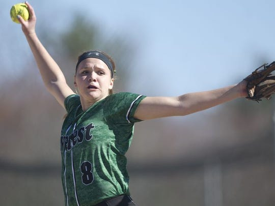 Miranda Gajewski was a unanimous selection to the all-Wisconsin Valley Conference softball team last spring.