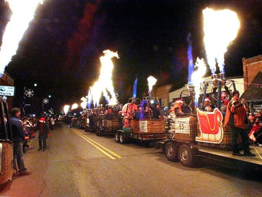 The Christmas in the 'Ville parade usually draws up