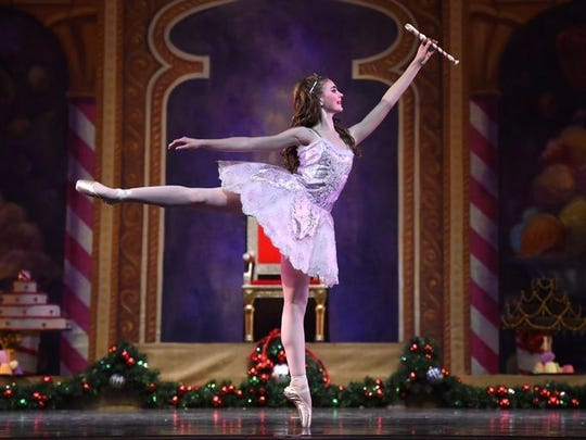 "A ballerina dances in a 2014 production of ""The Nutcracker,"" which will be showing at the Pioneer Center."