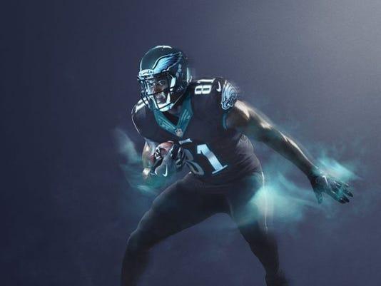 998223799 636180024188990478-eagles-color.jpg. The Eagles  Color Rush uniform.  (Photo  NFL)