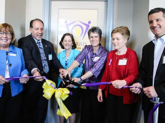 Ribbon-cutting at the new Family Justice Center for