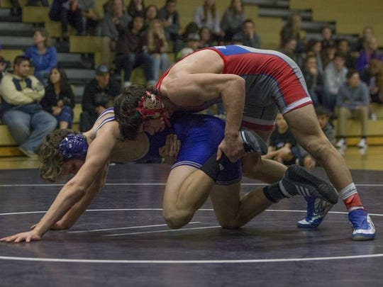 Reno High senior Andrew Berreyesa is a top seed in the 170-pound class for the Northern 4A Regional wrestling tournament.