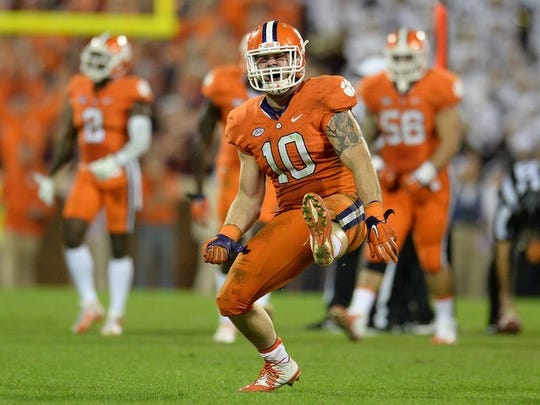 Clemson linebacker Ben Boulware (10) logged more than 300 tackles during his career with the Tigers.