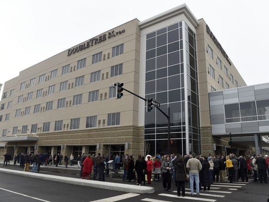 The Hilton DoubleTree opened in Downtown Evansville