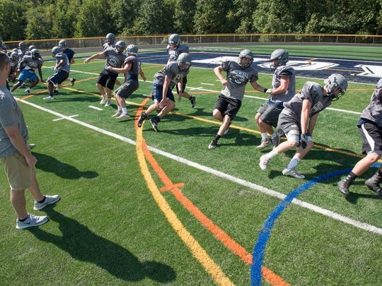 The Howell football team participates in preseason