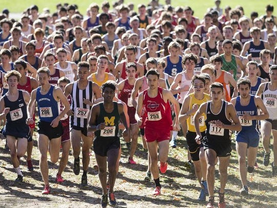 The boys cross country meet of champions race in 2016
