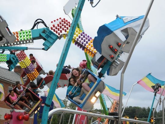 Amusement rides are among the attractions that bring