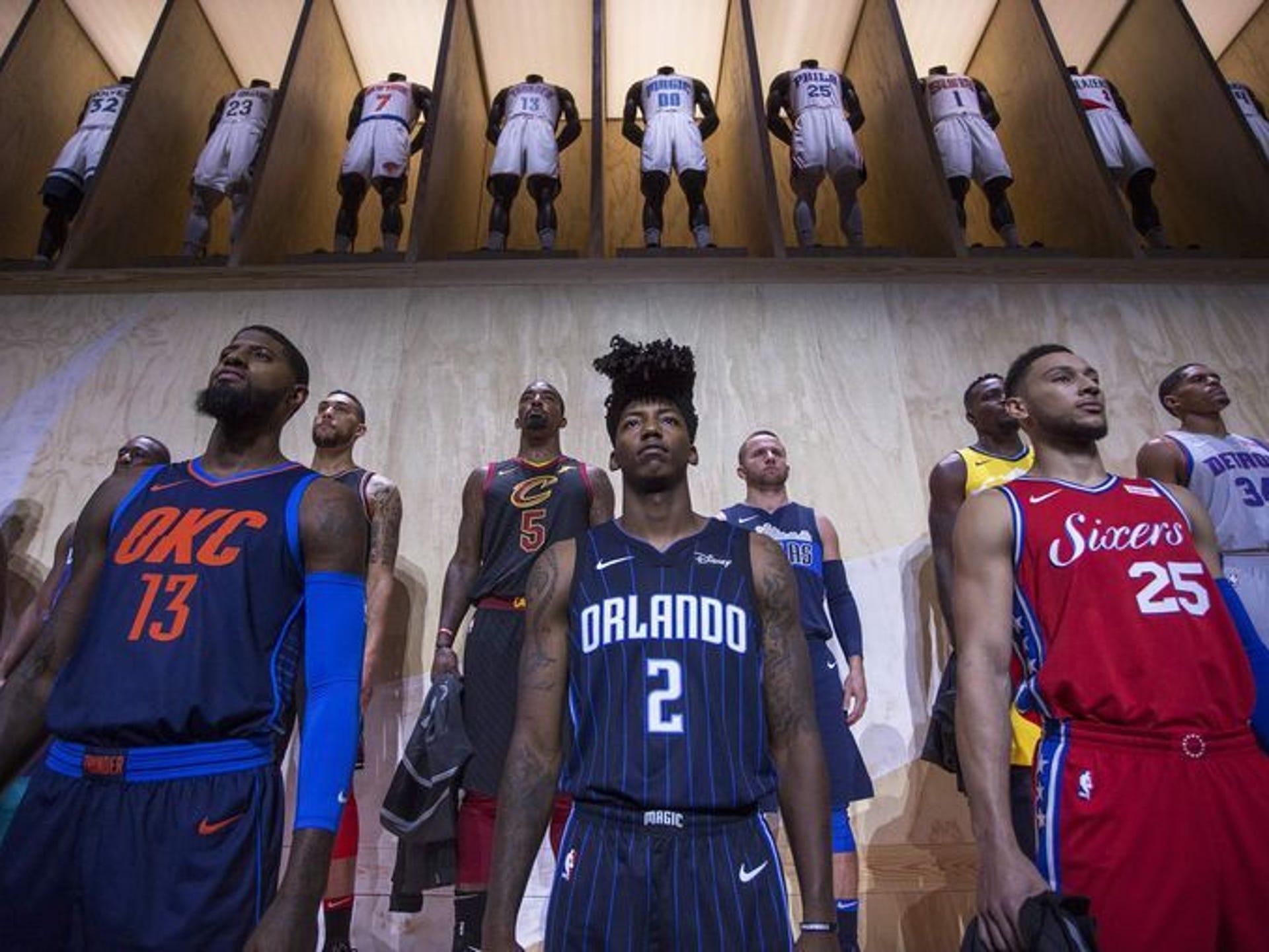 new styles efe3e d771a NBA teams unveil new Nike jerseys