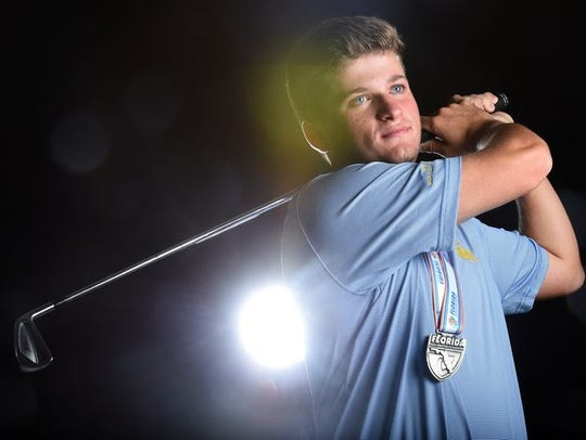 Garrett Barber will be playing college golf next year at LSU.