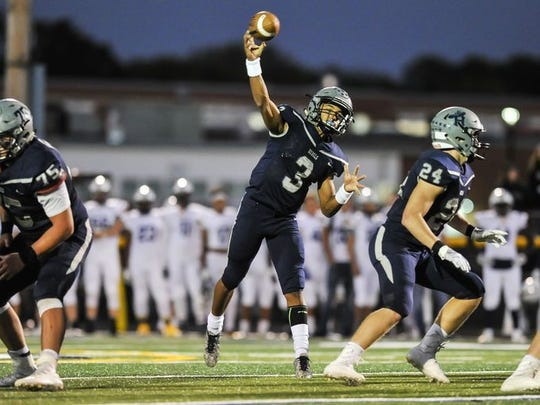 Howell, behind quarterback Eddie Morales (No. 3), will be trying to upend top-ranked Manalapan Friday night