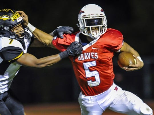 Manalapan, led by senior tailback Naim Mayfield, is the  favorite to win the NJSIAA Central Group V championship.