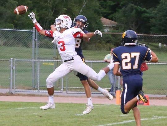 Wisconsin Rapids' senior Isaiah Westfall was the receiver
