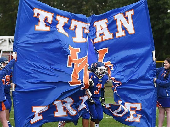The Keansburg Football team takes the field on Sep.