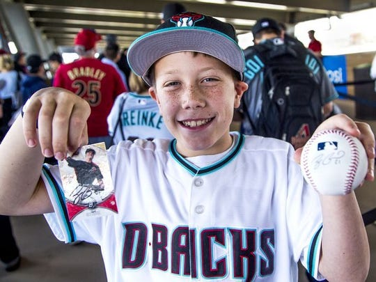 Catch an autograph at the Subway D-backs Fan Fest on Saturday, Feb. 17 at Salt River Fields at Talking Stick.