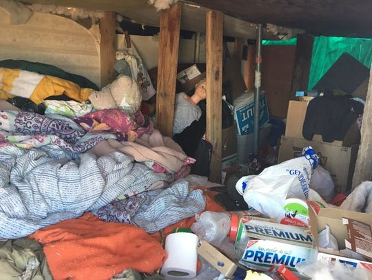Three children and their parents were living in a homeless