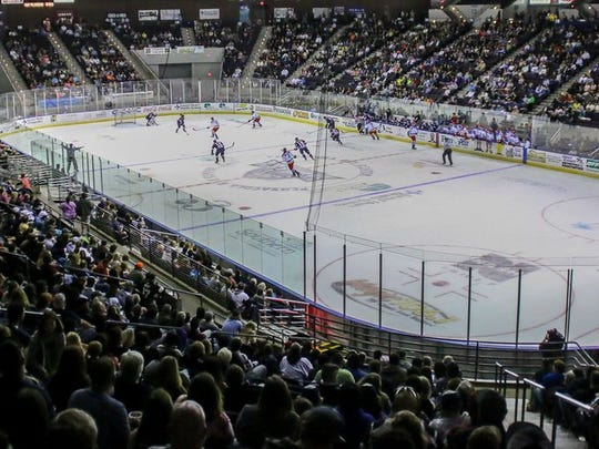 A crowd of 6,043 watched an Ice Flyers game at the Pensacola Bay Center as part of the team's $5 ticket weekend in 2018.