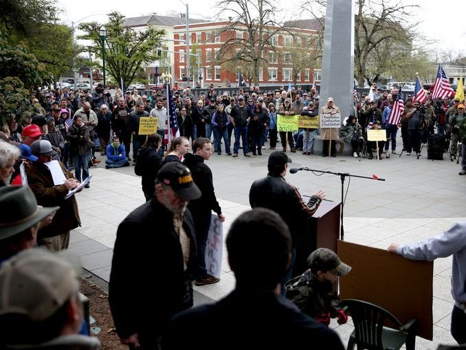 A rally in support of the 2nd Amendment brought out more than 300 people.