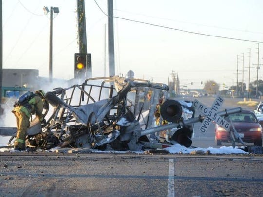 More than three years after a deadly Metrolink train crash in Oxnard (pictured), nearly $70 million in funding for a long-planned bridge that officials say would have prevented the collision looks like it's finally materializing.