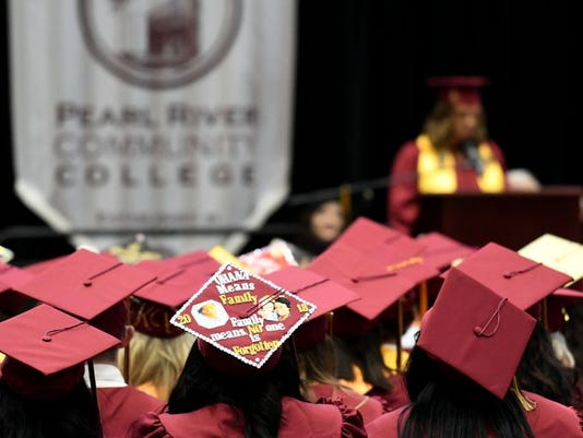 college graduates send own messages on caps worn during commencement