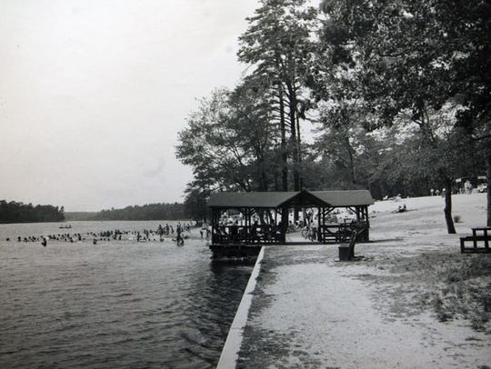 Lake Carasaljo, Lakewood, in the 1950s.