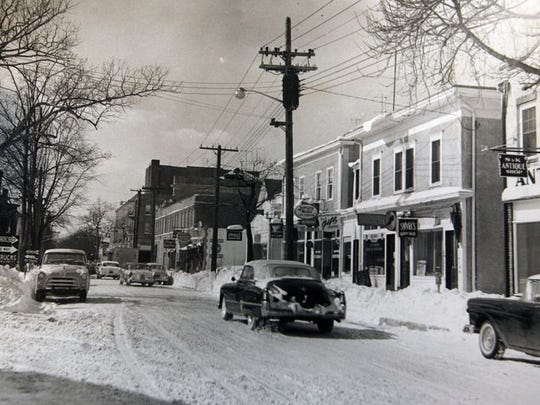 Fourth Street, Lakewood, looking west, circa 1950s.