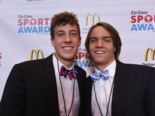 Jackson Boersma with a friend at the 2017 Times Sports