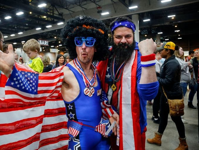 Check out these fun photos of folks showing their patriotic spirit from across the country.