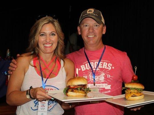Ginny & Austin Hunt at Burgers & Brews 2017.