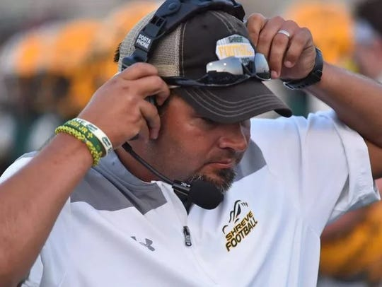 Captain Shreve coach Bryant Sepulvado