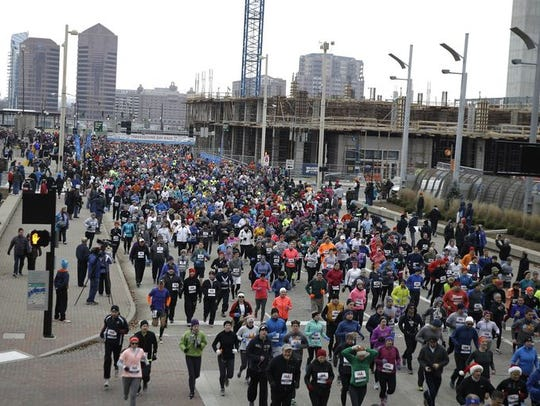 Thousands of runners took part in the 105th annual