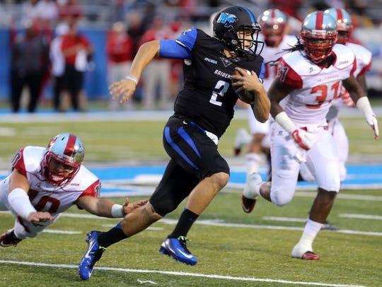 MTSU quarterback Austin Grammer will battle with redshirt