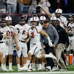 25. Lake Travis <p>Location: Austin, Texas<br /> Record: 15-1<br /> Last week: No. 14<br /> Recap: Lost 34-7 Saturday vs. then-No. 6 Katy, Texas in 6A-II state championship in Houston. Lake Travis reached the state final for the first time since 2011.</p> <p>Photo: Bob Levey, Associated Press</p>