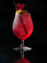 The Saint Chamond, a vodka drink mixed with pear brandy,