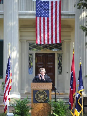 U.S. District Court Judge Todd J. Campbell during a special naturalization ceremony at The Hermitage, Home of President Andrew Jackson in Hermitage, Tenn., Friday, Sept. 26, 2014. Campbell will retire after 20 years as a federal judge in December 2016.