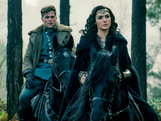 "Chris Pine and Gal Gadot star in ""Wonder Woman."""
