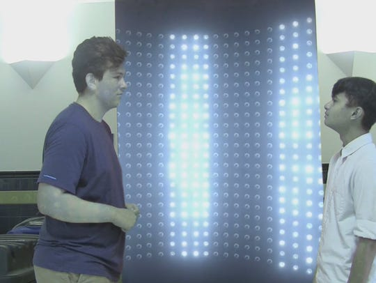 John Ebler, left, and Javen Sotomil in a scene from