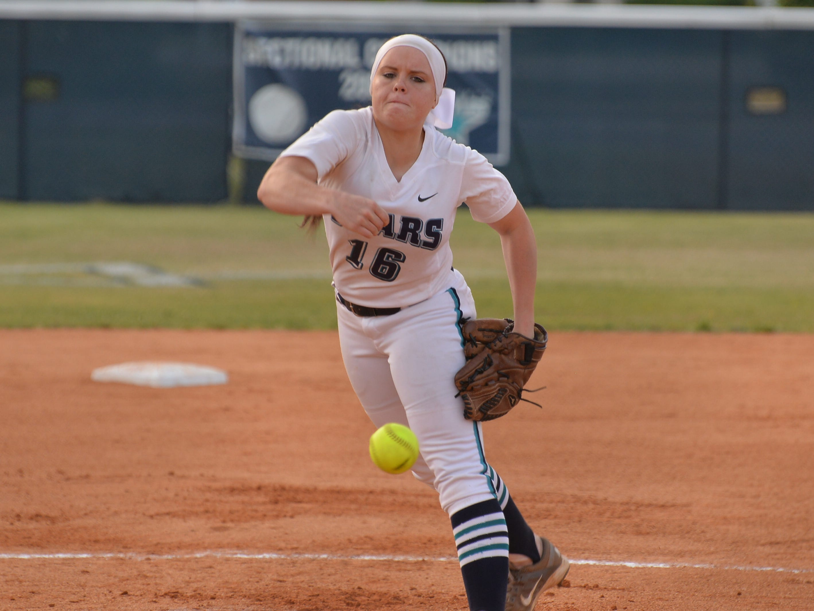 Siegel's Veronica Westfall was named the District 7-AAA Pitcher of the Year.