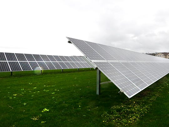 The solar panels supply half of the energy for the