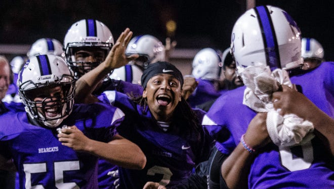 Muncie Central High School defeated Richmond, 56-14, in a Week 4 football game at Muncie on Friday, Sept. 8, 2017.