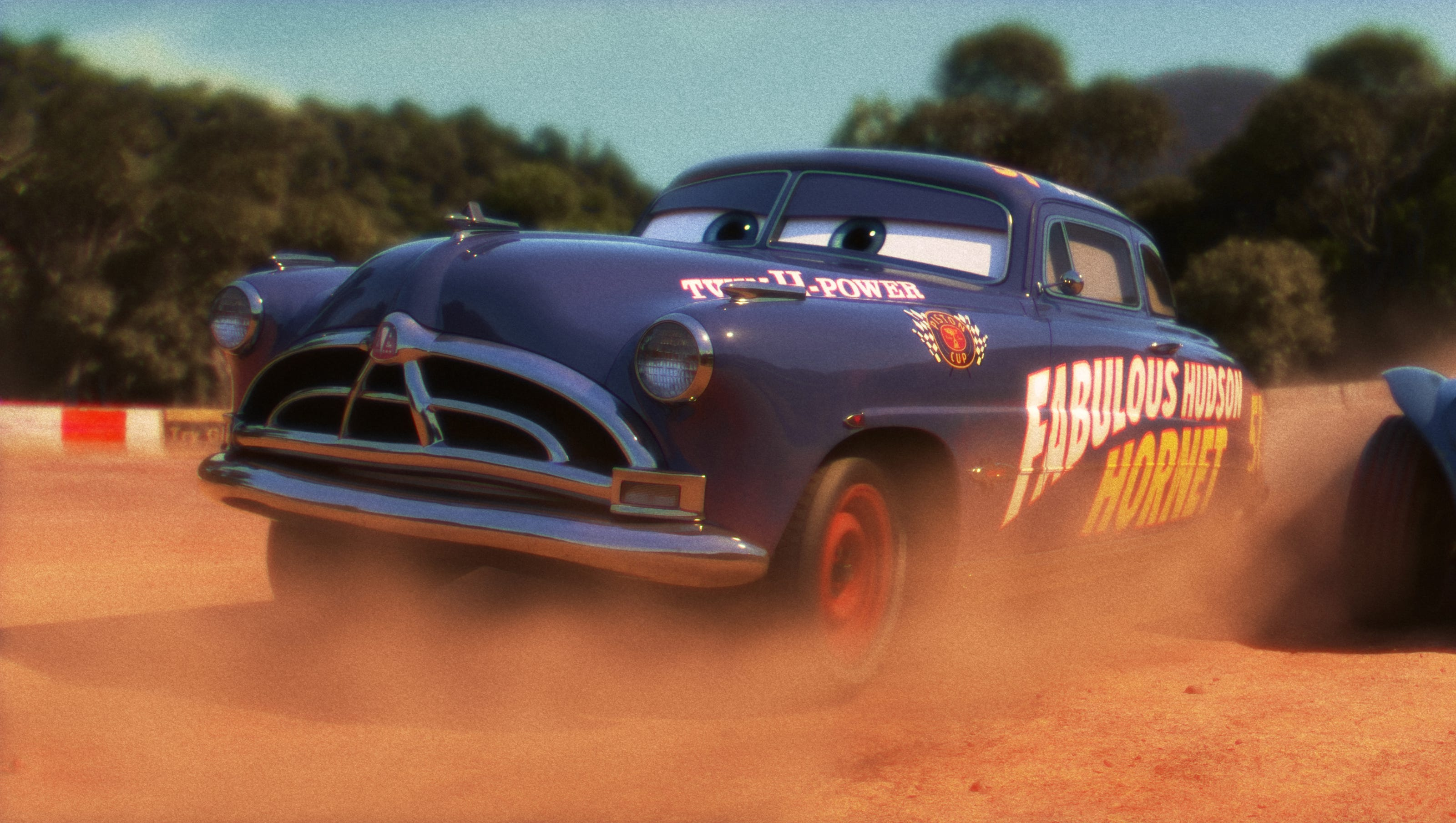 That really is Paul Newman riding again as Doc Hudson in 'Cars 3'