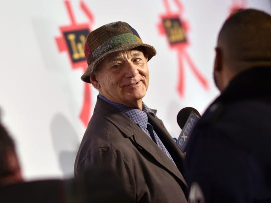"Bill Murray at a New York screening of ""Isle of Dogs"" in March. Murray is part of the film's voice cast."