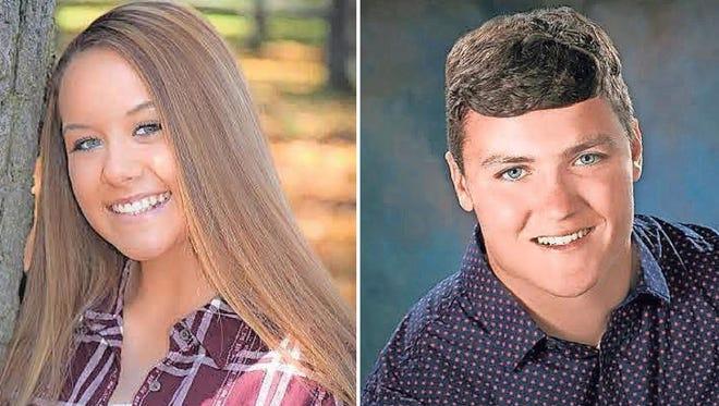 Kaylynn Carew and Keegan Downham of Kimberly High School are this week's top scholars.