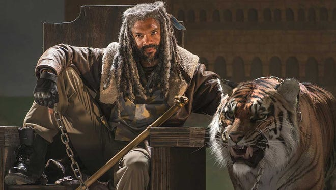 "Ezekiel (Khary Payton) and his tiger Shiva are among the newest additions to ""The Walking Dead."""