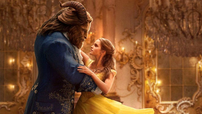 """Dan Stevens is Beast and Emma Watson is Belle in Disney's live-action """"Beauty and the Beast."""""""